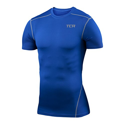 - TCA Men's Boys Pro Performance Compression Shirt Short Sleeve Thermal Top-BBL