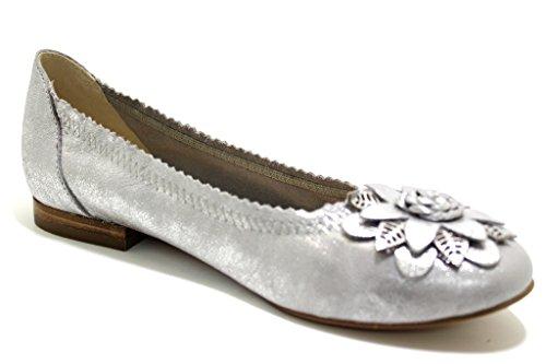 Caprice Damen 22103 Geschlossene Ballerinas Grau
