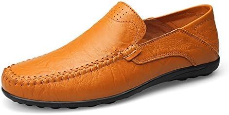メンズファッションデザインソフトブランドローファーメンズシューズ夏のファッションピーズカジュアルシューズメンズパステルキャンバスソフト快適なマンシューズフラットシューズ男性の靴 (Color : Yellow Brown hollow vamp, サイズ : 28 CM)