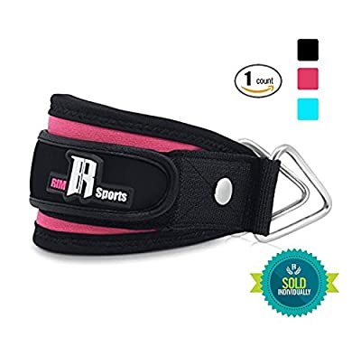 Ankle Strap For Cable Machines By RIMSports - Best Ankle Cuff For Leg Workout Equipment - Cuff For Leg Exercise And Workout Machine - Ideal Ankle Cable Strap For Men And Women (Pink) Single