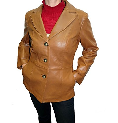 Neiman Marcus Women's Leather Blazer -Luggage (Neiman Marcus Luggage)