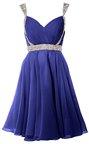 Homecoming Dress Royal Gown MACloth Prom Blue Wedding Short Party Gorgeous Straps Formal qXHwFZI