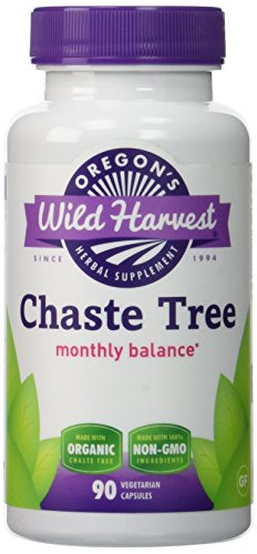 Chaste Tree - PMS Support, 90 Vcaps,(oregon's Wild Harvest), 440mg organic chaste tree berry (Berry Tree Pms Chaste)