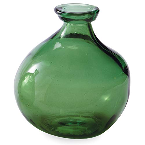 Mud Pie Recycled Green Spanish Rounded Small Glass - Glass Recycled Green