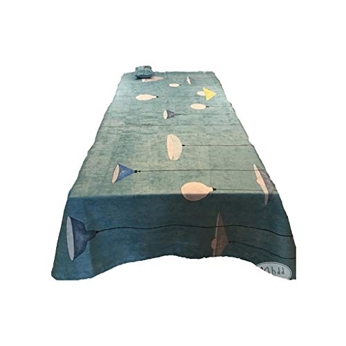 Tablecloth Rectangular Suede Tablecloth Coffee Table Cloth Nordic Modern Minimalist Table Cloth Art Tablecloth Diverse Use Tablecloth (Color : Green, Size : 200140cm)