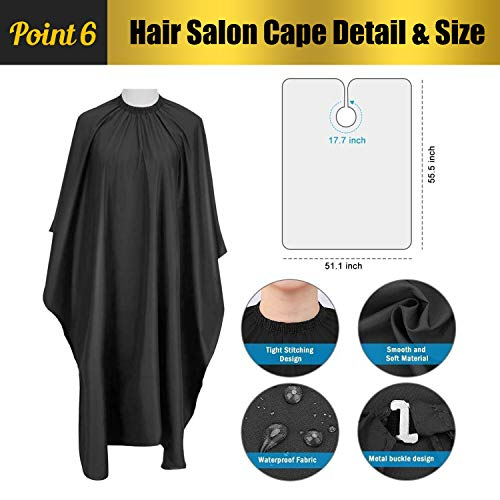Professional Hair Cutting Scissors Set Hairdressing Scissors Kit, WRei Hair Cutting Scissors, Thinning Shears, Hair Comb, Sponge wipe, Cape, WRei Shears Kit for Home, Salon, Barber