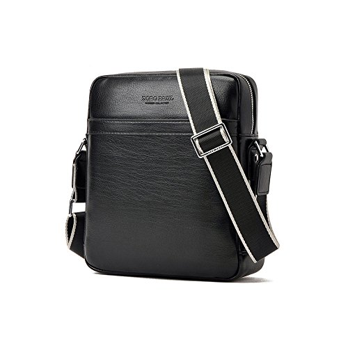 hombre messenger piel de caballeros hombro bolso bandolera para pequeña Negro de hombre bolso tipo casual de AIAIMEI de hombre bag bandolera cuero bolso mensajero bolso EpanqfgA0