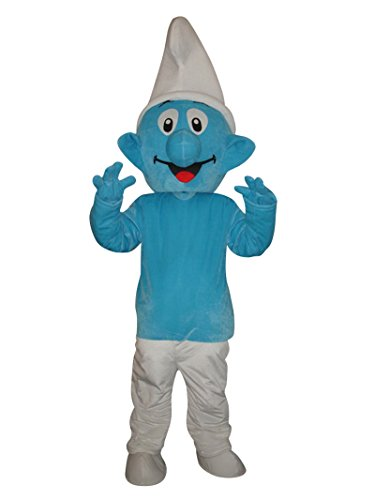 Happy Shop1 Smurf Halloween Adult Mascot Costume Fancy Dress Cosplay Outfit