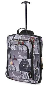 5 Cities Cabin 55x40x20cm Bolsa Trolley equipaje de mano adecuadas , 42 litros (Ciudades)