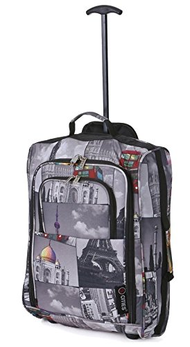 5 Cities Hand Luggage Lightweight Travel Holdall 55 cm 42 Litres - Cities
