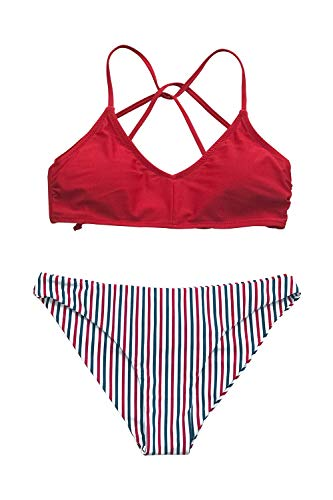 Blue And White Halter Bikini in Australia - 3