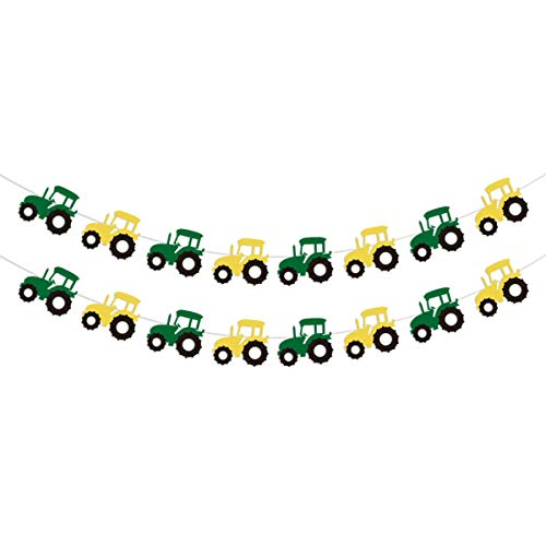 Tractor Garland Banner for Tractor/Farm / John Deere Themed Birthday Party Supplies Decorations (Deere John Banner Birthday)