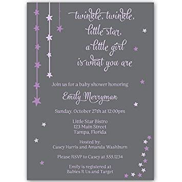 Amazon twinkle little star baby shower invitations girls twinkle little star baby shower invitations girls purple over the moon filmwisefo
