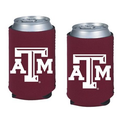 (NCAA Texas A&M - Neoprene Pocket Coolies (2) | Texas A&M Aggies Collapsible Beverage Insulators - Set of 2)