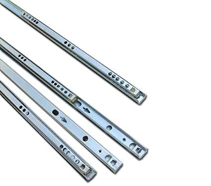 Solmer LTD Schubladenschienen, Metall, Kugellager, 350 mm, fü r 17 mm tiefe Schubladen, 4 Paar