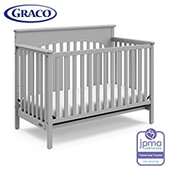 Durable, versatile and beautiful, the Graco Lauren 4-in-1 Convertible Crib is certified to be safe. Simple yet elegant in style, this sturdy Lauren 4-in-1 Convertible Crib features stationary side rails for a safe sleeping environment for bab...