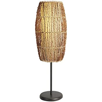 Rattan Bamboo Table Lamp Light Tropical Unique