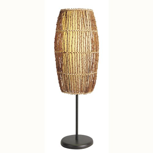 Rattan Bamboo Table Lamp Light Tropical Unique Bamboo Tropical Table Lamp