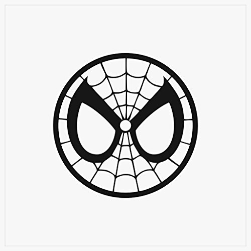 Spider Man Mask Spiderman Face Decal Vinyl Sticker|Cars Truc