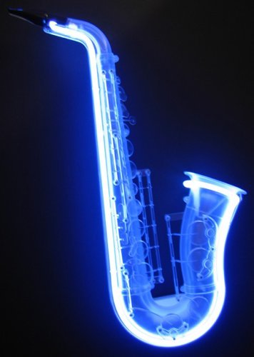 Blue Label Liquor (Neon Saxophone With A Stunning Blue Neon Light)