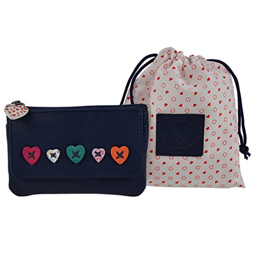Mala Leather Women's Leather Coin Purse Wallet One Size Fits All Navy by Mala Leather