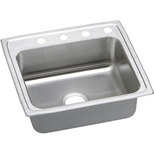 Elkay PSR22192 2-Hole Gourmet 19-1/2-Inch x 22-Inch Single Basin Drop-Inch Stainless Steel Kitchen -