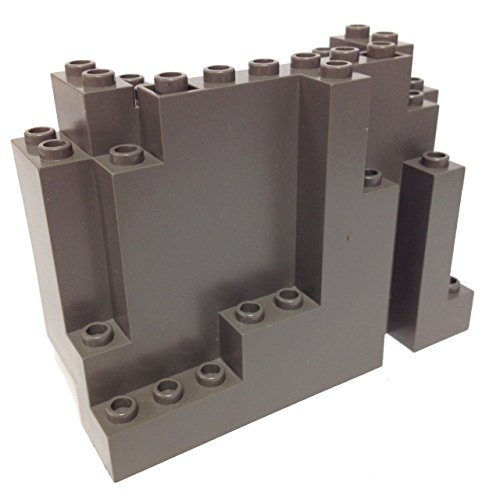 Lego Parts: Mountain Brick 4 x 10 x 6 Rock Panel Rectangular (BURP) (Old Dark Gray)