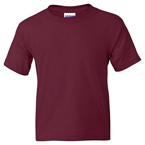Gildan Dryblend Youth T-Shirt, Maroon, Medium