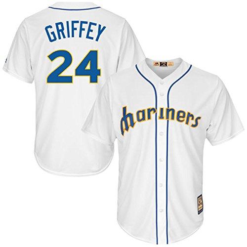 Seattle Mariners Jersey (Ken Griffey Jr. 1991 Authentic Mesh BP Jersey Seattle Mariners (Large)
