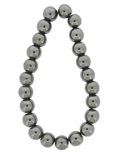 - Tennessee Crafts 1157 Semi Precious Gunmetal Hematite Beads, Round, 10mm
