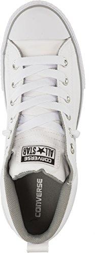 Converse 654248 Chuck Taylor Star Street Junior Sneaker (White/White/White)