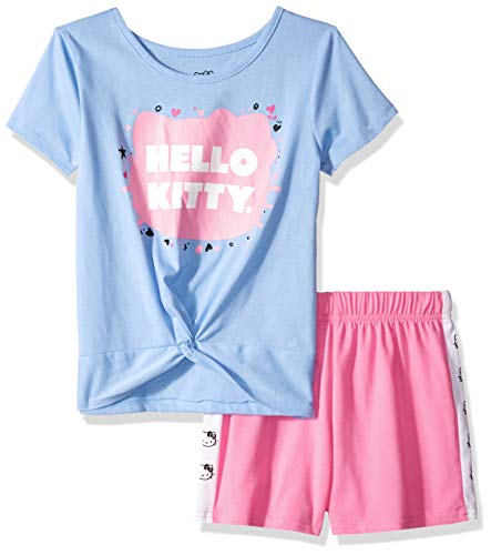 (Hello Kitty Baby Girls' Short Set with Embellished Fashion Top, Periwinkle 18 Months)