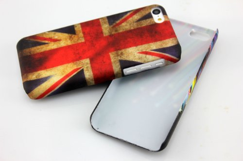 Apple iPhone 5C Hard Case UK VINTAGE Schutz-Hülle Design Schale Cover Etui thematys®