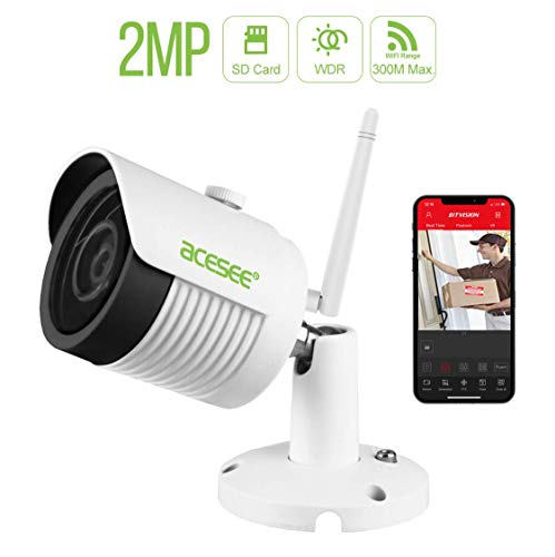 1080P WiFi Outdoor Security Camera with Smart Night Vision, Motion Detection,Home Surveillance IP Camera for Baby/Elder/Pet/Nanny Monitor, Cloud Service/Micro-SD Support