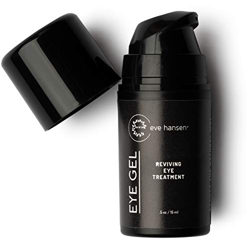 Eve Hansen Peptide Eye Gel | Anti-Aging Under Eye Treatment Cream for Eye Bags, Dark Circles | Plant Stem Cells, Hyaluronic Acid, Vitamin E | Cruelty Free, Vegan, Made in USA .5 oz