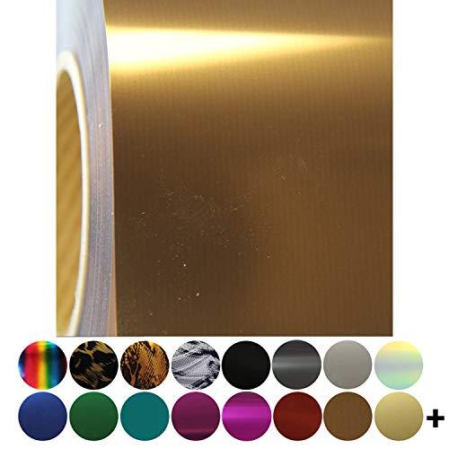 Metallic Foil Brown Heat Transfer Vinyl Film HTV | Two (2) 15