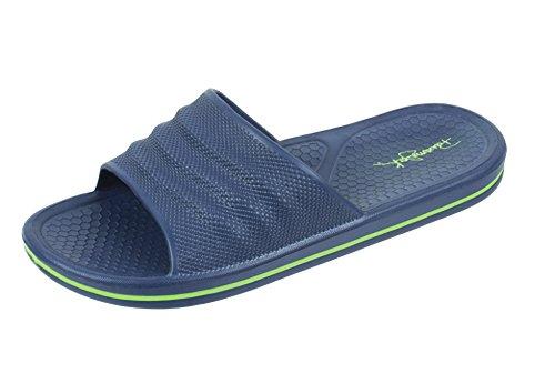 Panama Jack Men's Weekender Sport Casual Slide Sandal, Size 8 to 14 (8-9, Navy) (Panama Apparel Jack)