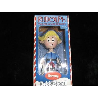 NEW Rudolph Red Nosed Reindeer HERMEY the Dentist Bobble Bobblehead Nodder: Toys & Games