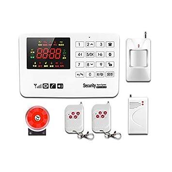 CCDZ Sistema De Alarma gsm/SMS Teclados Llamadas De 6 Teléfonos Diferentes Antirrobo Sistema De Seguridad para El Hogar, Oficina, Tienda, Pilas Incluid: ...