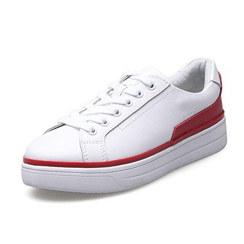 Primavera Zapatos De Cuero Blanco,Ocio Coreano Zapatos,Zapatos Del Estudiante Fondo Plano,Espesar Zapatos Del Tablero Del Fondo,Los Zapatos De Las Mujeres A