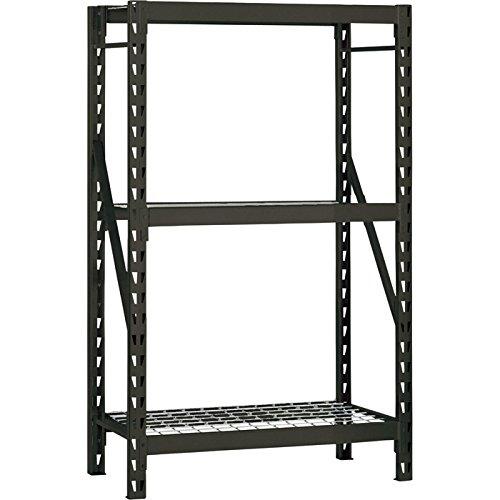 Edsal ERZ481872W3 3-Shelf Heavy-Duty Steel Welded Rack, 72