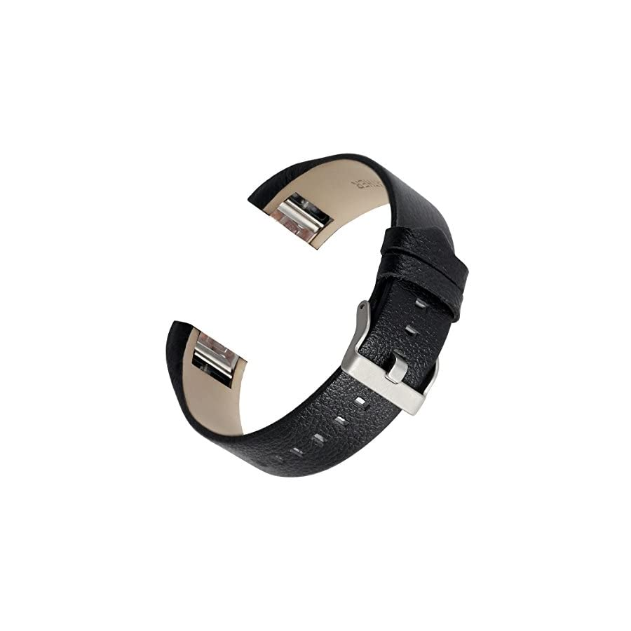 bayite Leather Bands Compatible Fitbit Charge 2, Replacement Accessories Straps Women Men