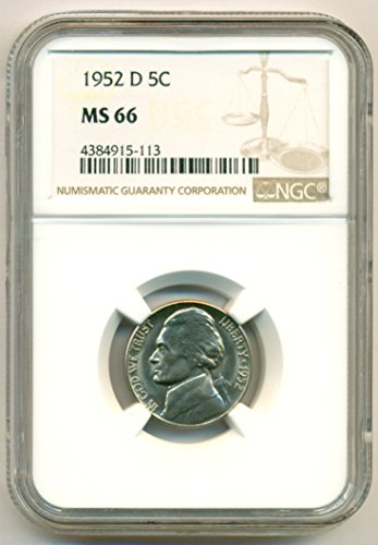 1952 D Jefferson Nickel MS66 NGC