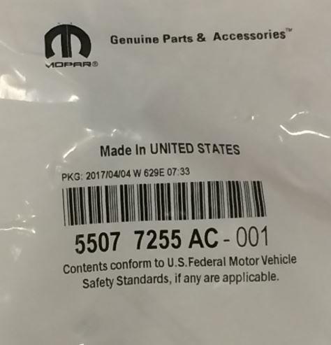 Genuine Chrysler 55077255AC Windshield Washer Nozzle