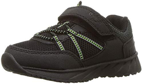 OshKosh B'Gosh Boys' Murray Sneaker, Black, 9 M US Toddler