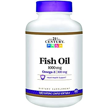 21st century fish oil 1000 mg enteric coated for Fish oil 500mg