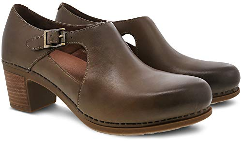 Shoe Hollie Calf Women's Burnished Dansko Taupe w6qABHEnx