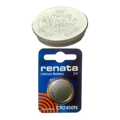 2 X Renata CR2450N, 3V, 540mAh, Lithium Coin Battery, Carded (Pack of 1)