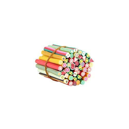 100Pcs Nail Art Sticks 3D Designs Nail Art Nailart Manicure Fimo Canes Sticks Rods Stickers Gel Tips
