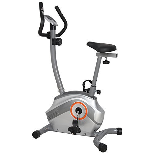 US Pride Furniture FN98003B Upright Magnetic Exercise Bike - Silver